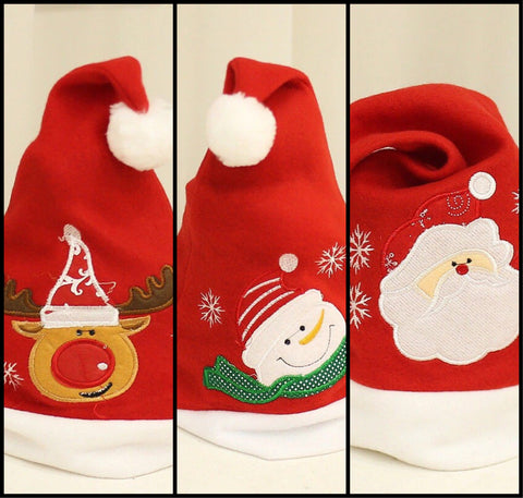 Kids Santa hats, 3 designs