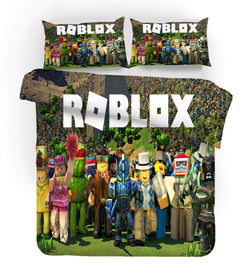 "Roblox ""green group"" quilt cover set pre-order"