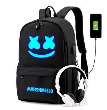 Black glow in the dark backpack IN STOCK