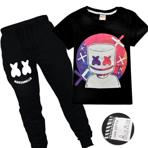 RESTOCKED !! Marshmello trackpants & T-shirt set set siz 5-14