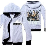 Fortnite grey/black zip up hoodie Sz 5-12 IN STOCK