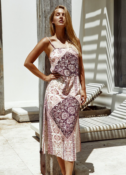 Palma Midi Dress - Grape