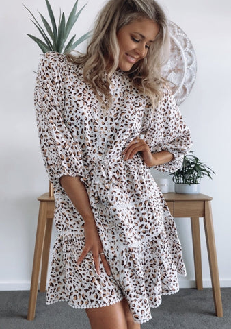 Sasha Dress - LEOPARD