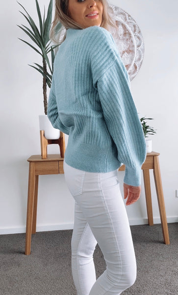 Chloe Cardigan - SOFT BLUE