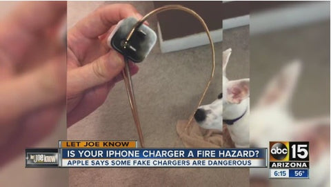APPLE says fake chargers are dangerous