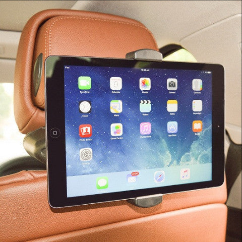 "Crash Test Approved ""ROCKY"" All-in-One Universal Headrest Mount with in-Vehicle Charging (Fits most Phablets & Tablets)"