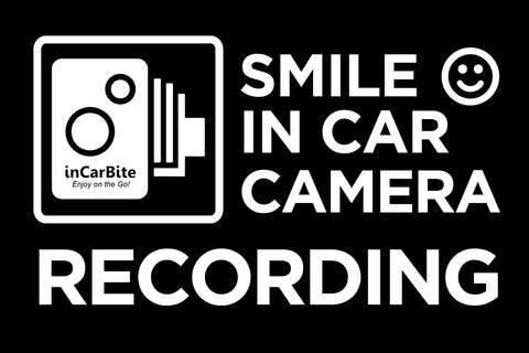 ( Pack of 2 pcs ) In Car Camera Recording Static Sticker