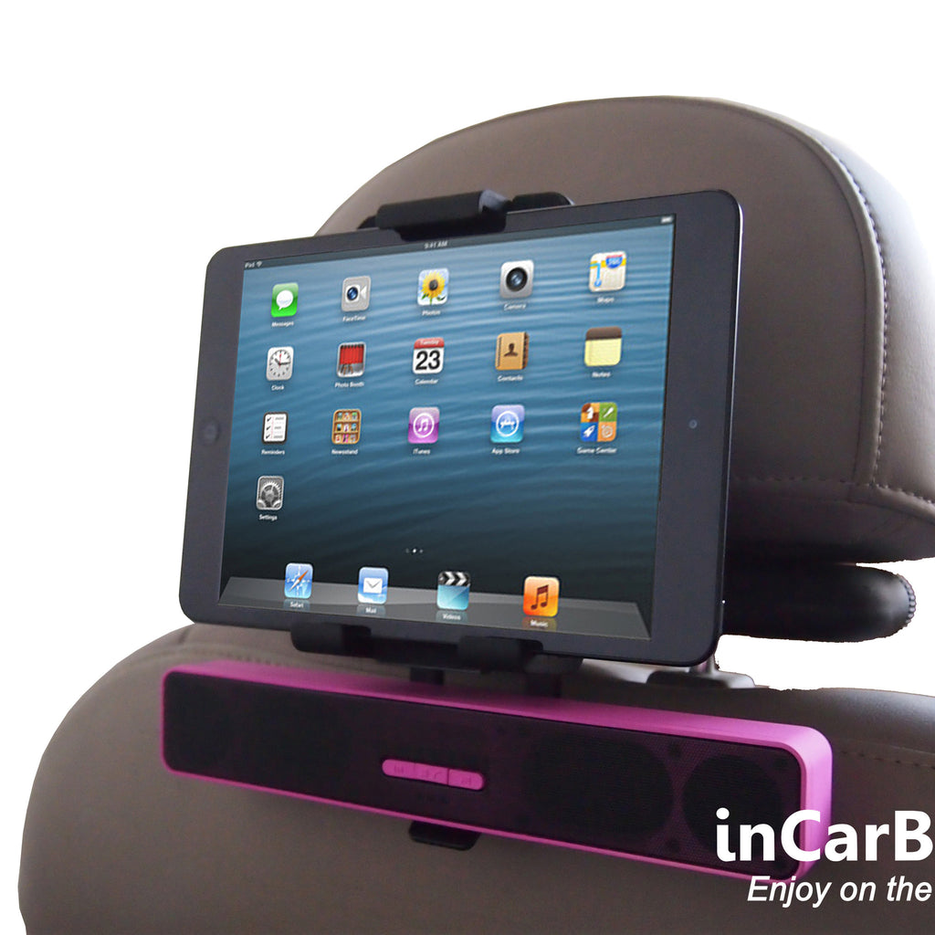 Universal Headrest Mount for most Tablets with In-Vehicle Charging