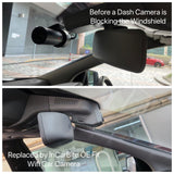 Replace windshield dash camera by OE Fit Hidden Car Camera