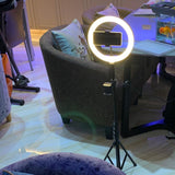 "Online Meeting Circular Light - 12"" Portable Selfie Ring Light Tripod "" SHINE PRO """