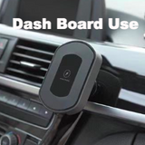 Magnetic Fast Wireless Car Charger for Dash Board & Air Vent with QC 3.0 USB Car Charger