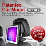 "iPad 2/3 ""Power"" Version Headrest Mount with In-Vehicle Charging Feature ( Set of 2 ) - FREE Shipping"