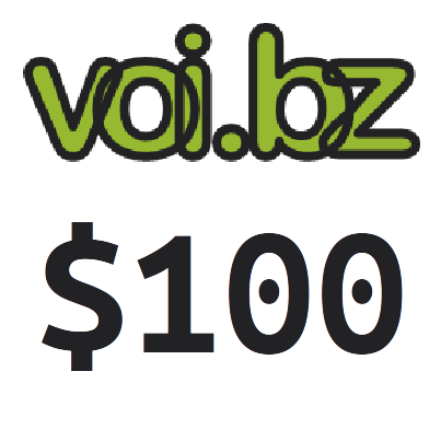 voi.bz Top up Voucher Code 100