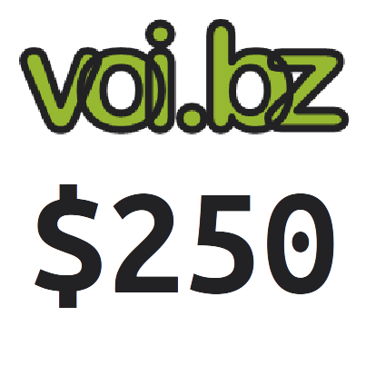 voi.bz Top up Voucher Code 250