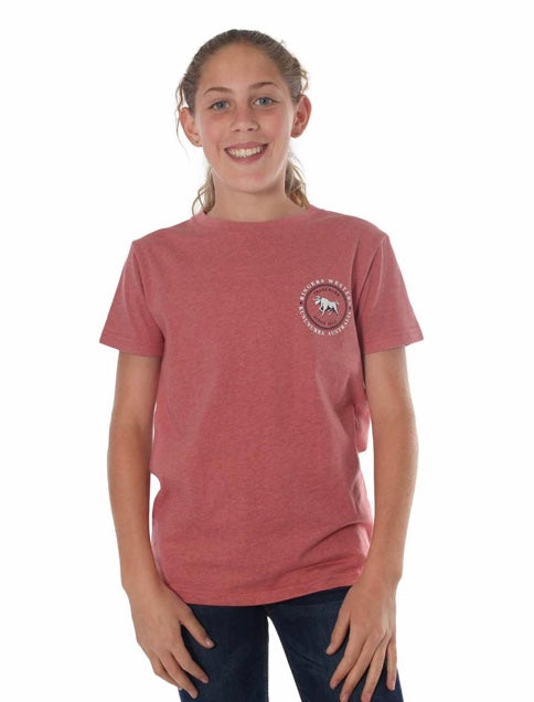 RINGERS WESTERN KIDS NULLABOR CLASSIC T-SHIRT - DUSTY ROSE MARLE
