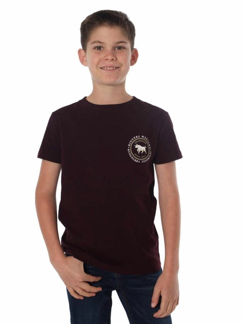 RINGERS WESTERN KIDS NULLABOR CLASSIC T-SHIRT - CABERNET MARLE