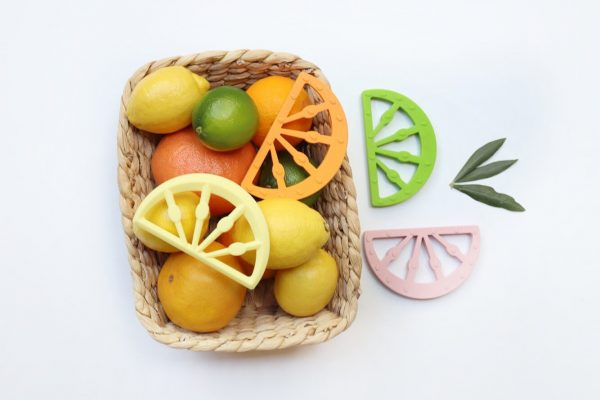 CITRUS FRUIT SILICONE TEETHER