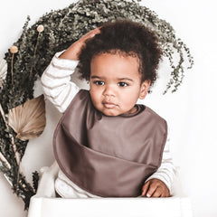 WATERPROOF SNUGGLE BIB - BROWN