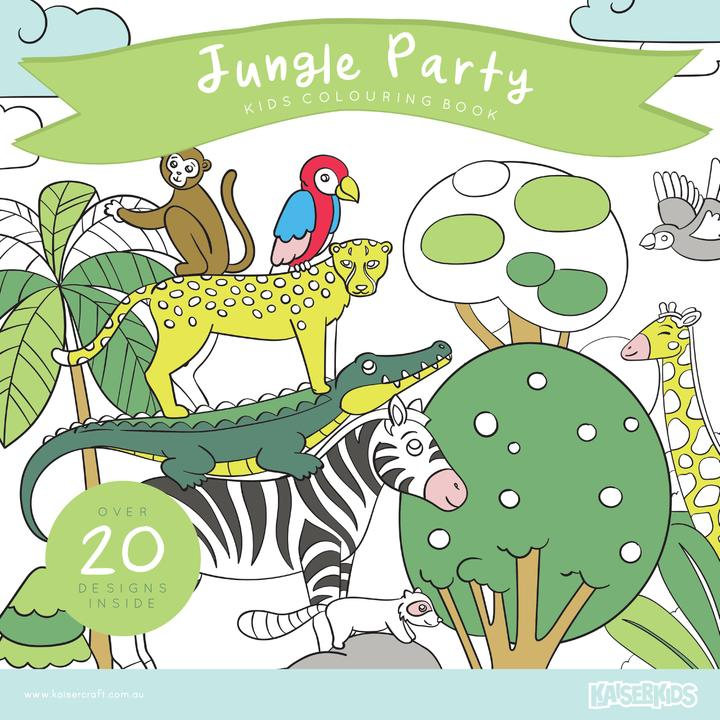 COLOURING BOOK - JUNGLE PARTY