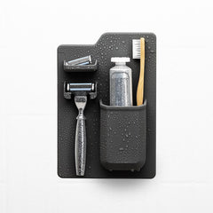 THE HARVEY TOOTHBRUSH & RAZOR HOLDER - CHARCOAL