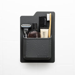 THE JAMES - TOILETRY ORGANISER - CHARCOAL
