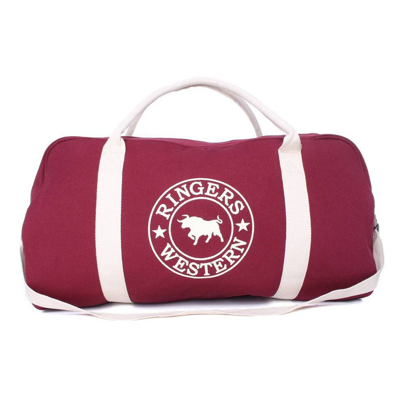 GUNDAGAI DUFFLE BAG - BURGUNDY/NATURAL