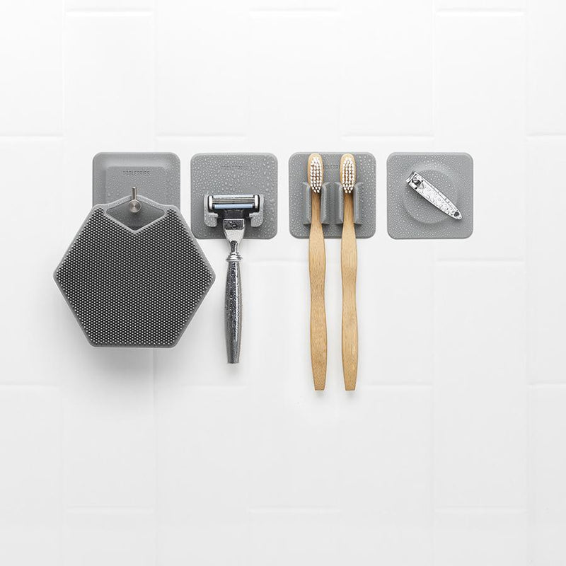 4 IN 1 BATHROOM STORAGE TILES - GREY