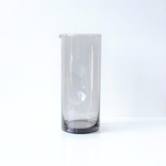 DIMPLE GLASS CARAFE - SMOKE