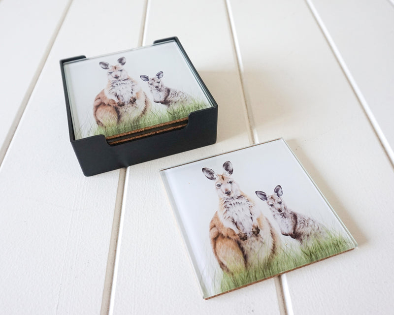 GLASS COASTERS - WALLAROOS