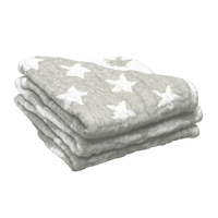 6 LAYER MUSLIN WASH CLOTH - GREY