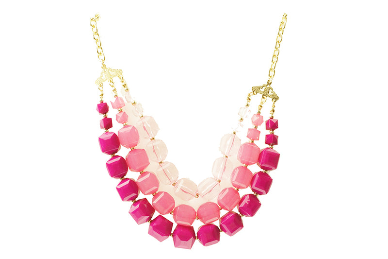HOT PINK LAYERED NECKLACE