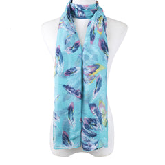 SCARF - BLUE FEATHER
