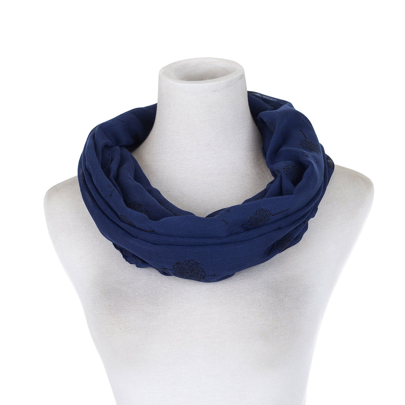 SNOOD - NAVY DANDELION