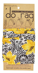 DO RAG/WIRED HEAD WRAP - BLACK & YELLOW FLORAL