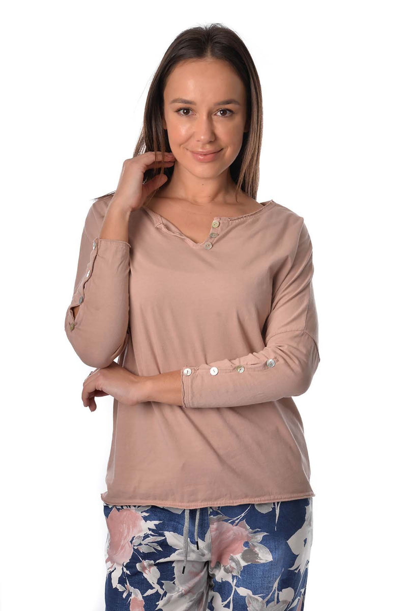 BETINA TOP - BLUSH