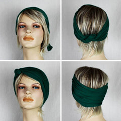 DO RAG/WIRED HEAD WRAP - RETRO FLORAL CIRCLES