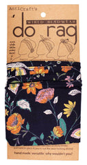 DO RAG/WIRED HEAD WRAP - FLORAL MEADOW NAVY