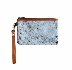TORONTO COWHIDE CLUTCH - TAN LEATHER