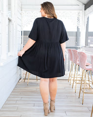 BABYDOLL DRESS - BLACK
