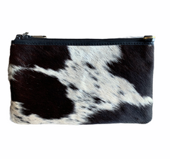 BARCELONA SMALL SLING COWHIDE HANDBAG - BLACK LEATHER