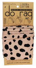 DO RAG/WIRED HEAD WRAP - LEOPARD ANIMAL PRINT NUDE