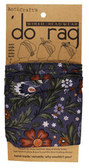 DO RAG/WIRED HEAD WRAP - MEADOW FLOWERS BROWN & GREY