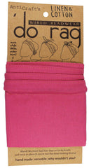 DO RAG/WIRED HEAD WRAP - PLAIN BRIGHT PINK LINEN