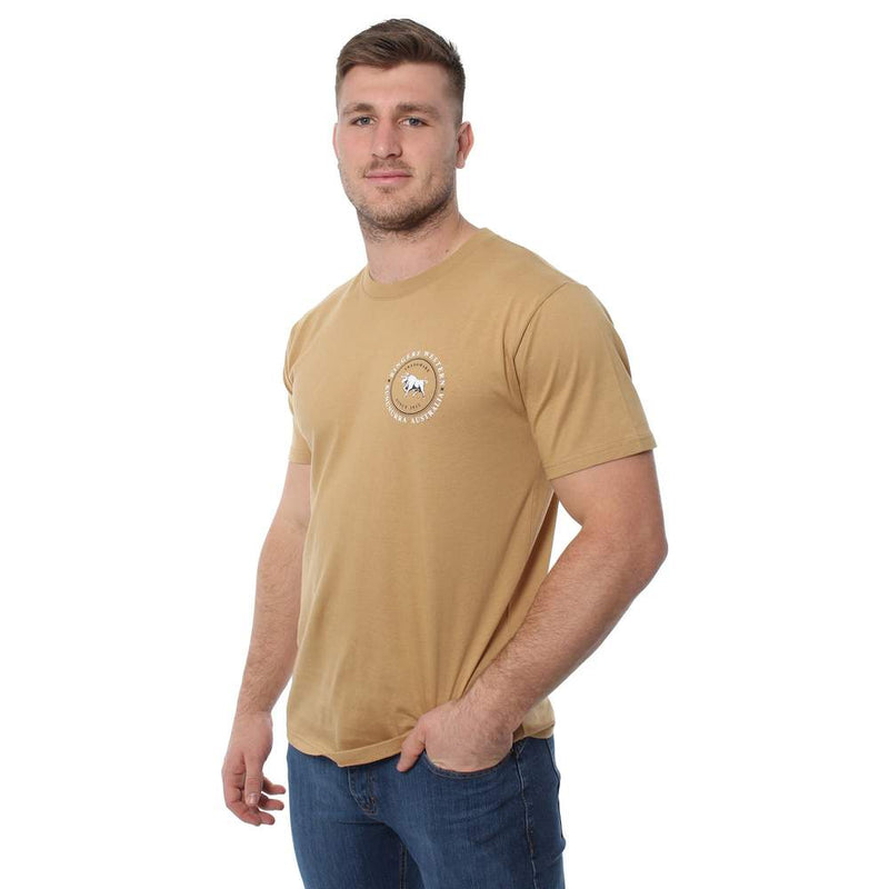 RINGERS WESTERN NULLABOR MENS CLASSIC T SHIRT - CLAY