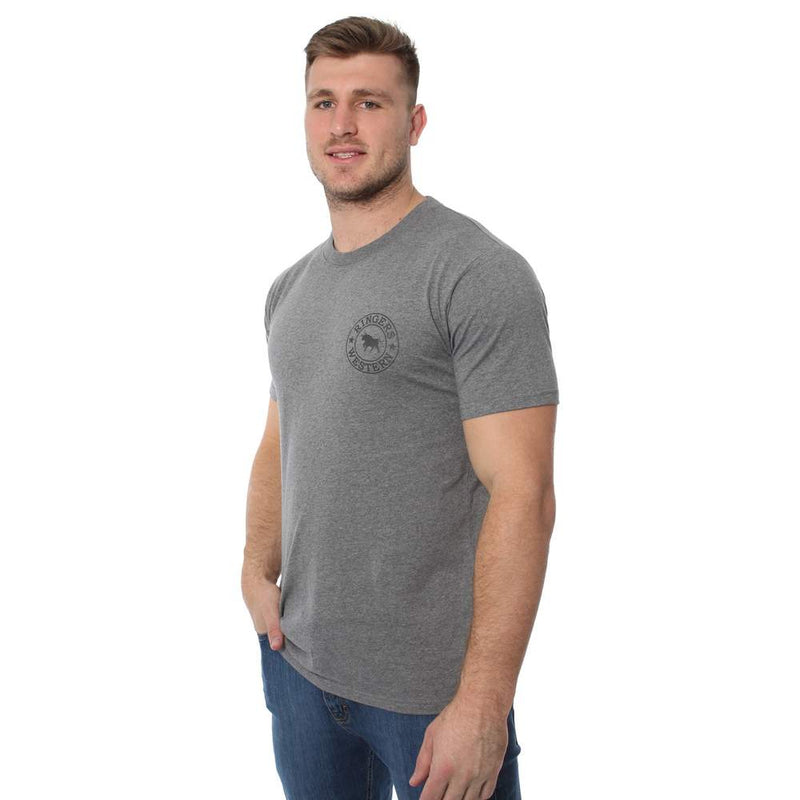 RINGERS WESTERN SIGNATURE BULL MENS CLASSIC T SHIRT - CHARCOAL MARLE