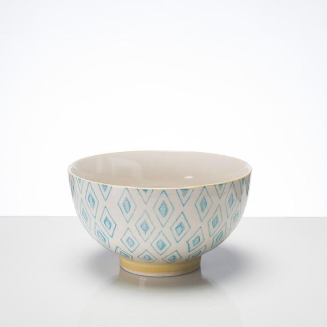 HAND STAMPED BOWL LARGE - BLUE
