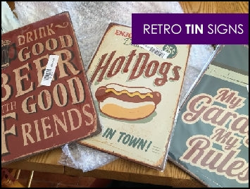 Retro metal signs tin hanging picture wall decor