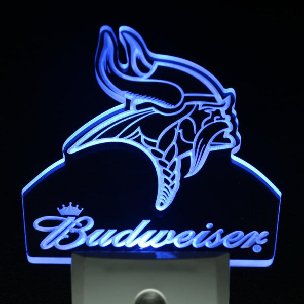 Bar pub LED wall decor Minnesota Vikings footbal night light sensor | Healing stone Handmade Jewelry by AnuanA Craft