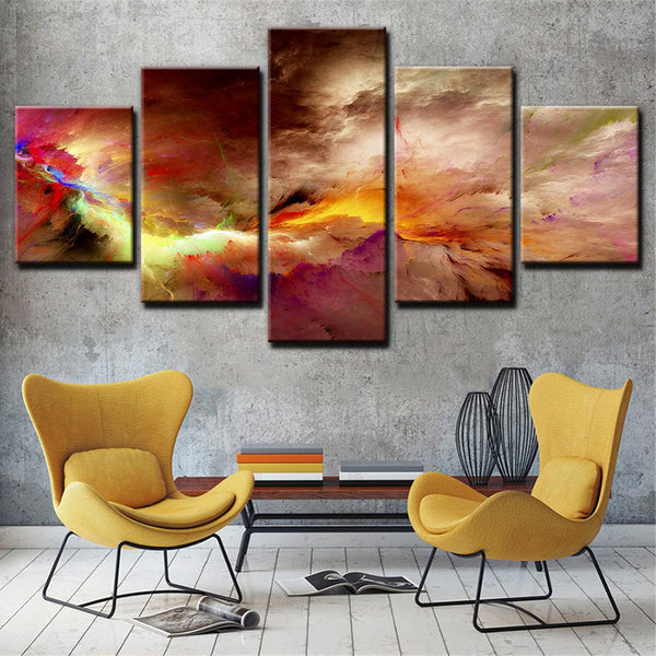 Modern cloudscape picture sky view Abstract Home Art Canvas Print 79"