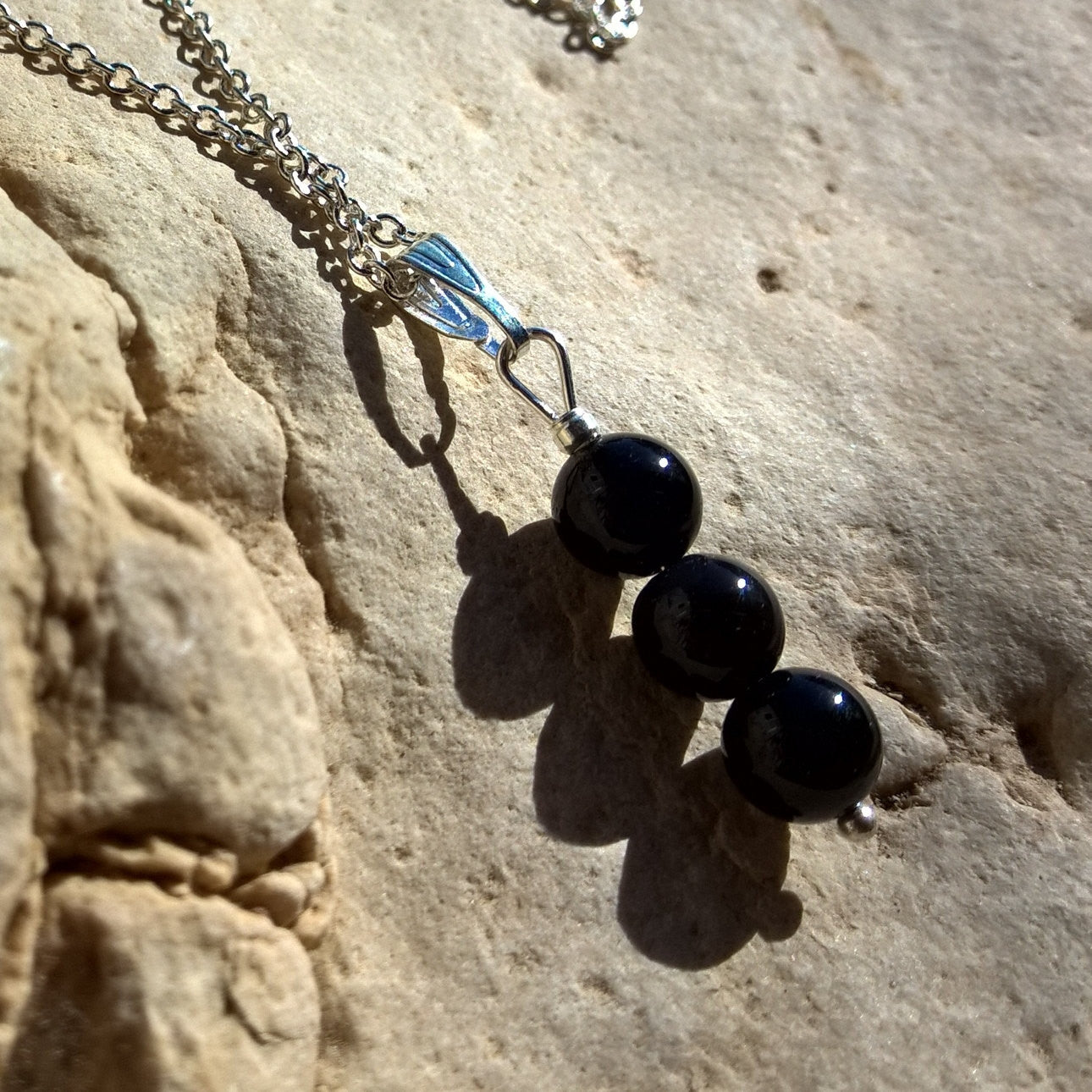 Womens Onyx necklace, Natural Onyx bar necklace woman